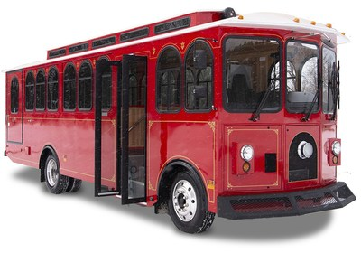 Motiv's electric trolley for the Town of Estes Park, Colorado