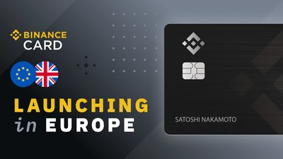 Binance Card launches in Europe, bridging crypto and debit payments (PRNewsfoto/Binance)