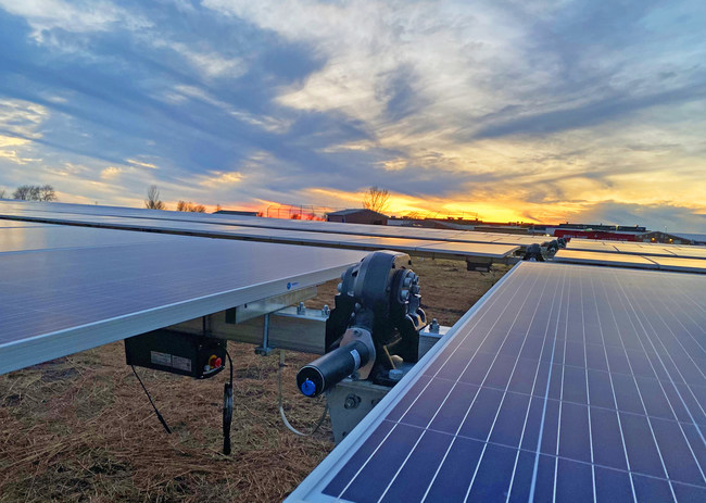 Solar FlexRack TDP 2 Trackers installed in Fulton County Project, one of Primergy Solar's projects from its Illinois portfolio.