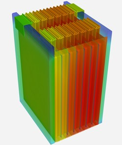 Ansys Fluent's new streamlined workflows help engineers accurately predict battery module temperature