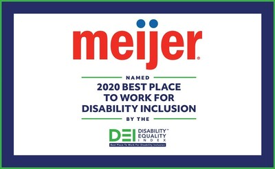 Meijer named 2020 Best Place to Work for Disability Inclusion.
