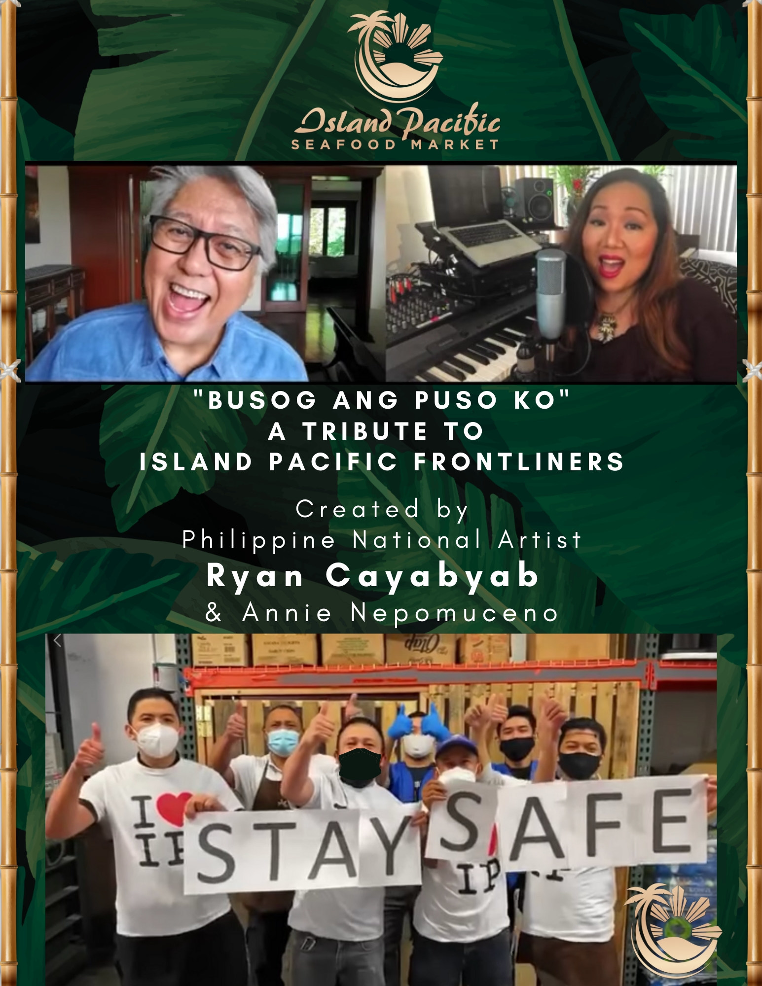 Philippine National Artist Ryan Cayabyab And Annie Nepomuceno Pay Tribute To Island Pacific Frontliners
