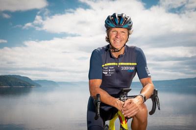 Pierre Lavoie, Grand Défi Pierre Lavoie et ambassadeur de la Véloroute du Fjord du Saguenay (Groupe CNW/Promotion Saguenay)
