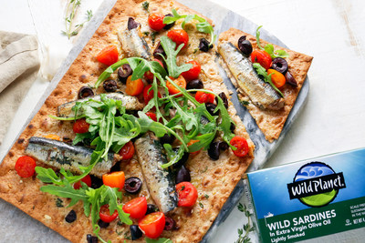 Wild Planet promotes eating small and abundant forage fish, which helps maintain a balanced marine ecosystem, offers numerous nutritional benefits, decreases the carbon footprint associated with the production of fish meal, and supports local fishermen. Sardines are an easy addition to salads, sandwiches, flatbreads, pasta dishes, and so much more!