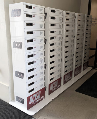 KwikBoost Store and Go Lockers help Grapevine-Colleyville Independent School District IT leaders provide contact-free technical support to deploy, service, and manage the devices students and teachers use for remote learning.