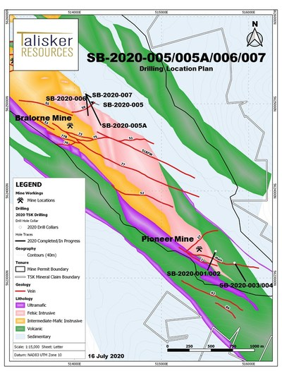 Map 1 (CNW Group/Talisker Resources Ltd)