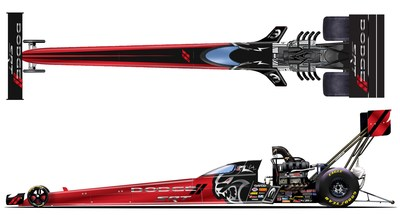 Leah Pruett's DSR Top Fuel Dragster will have a new look at NHRA Summernationals to promote recent reveal of 2021 Dodge Charger SRT Hellcat Redeye.