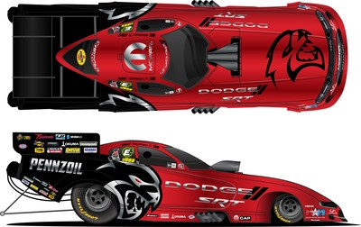 DSR driver Matt Hagan's Funny Car will sport a new look at NHRA Summernationals to promote recent reveal of 2021 Dodge Charger SRT Hellcat Redeye.