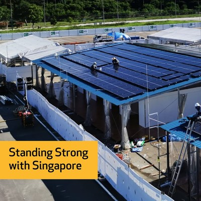 REC Group is proudly powering the COVID-19 Recovery Facility at the Changi Exhibition Centre (PRNewsfoto/REC Group)