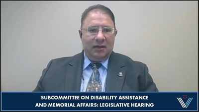 Wounded Warrior Project (WWP) veteran benefits training manager Frank Logalbo testified before the House Committee on Veterans Affairs, Subcommittee on Disability Assistance and Memorial Affairs