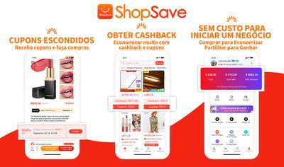 O ShopSave tem uma grande variedade de produtos com grandes descontos, super promoções e super cashback, para economizar e ganhar muito dinheiro só precisa de dar ao dedo!(Captura da tela do interface da APP SaveShop)