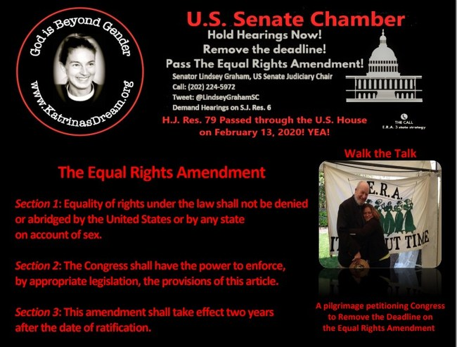 Walk the Talk Pilgrimage: US Congress - Remove the Deadline on the Equal Rights Amendment