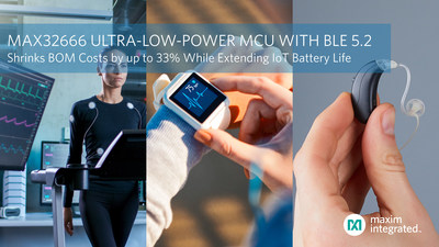 MAX32666 Ultra-Low-Power Dual Core Microcontroller with BLE 5.2 Shrinks BOM Costs by Up to 33 Percent for IoT Applications