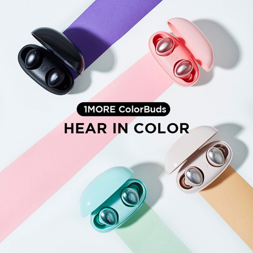 The True Wireless ColorBuds combine 1MORE's award-winning sound with a stylish look, four on-trend color options and a compact size to set a new standard for headphones as an everyday lifestyle companion.