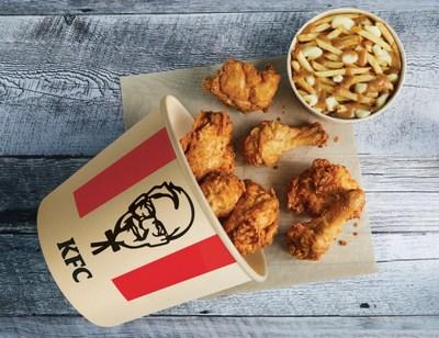 KFC's New Bamboo Packaging (CNW Group/KFC Canada)