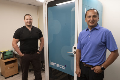 Chief Cadmus Delorme, Cowessess First Nation and Shawn Hazen, Founder Lumeca Health (CNW Group/Lumeca Health Inc.)