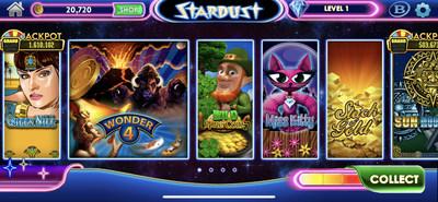 Screenshot of Stardust Social Casino.