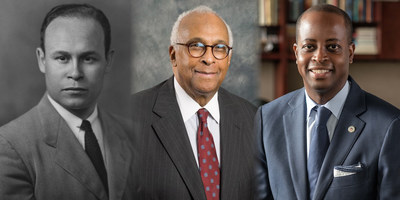 Howard University announces the appointment of Dr. Wayne A. I. Frederick as the new Charles R. Drew Endowed Chair of Surgery. Pictured L to R: Dr. Charles R. Drew, Dr. LeSalle Leffall and Dr. Wayne A. I. Frederick.