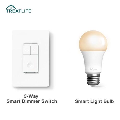 Treatlife's New 3-Way Smart Dimmer Switch and Smart Lightbulb are available at Treatlife.tech and Amazon.