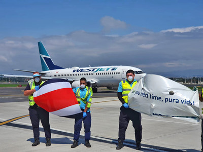 Since April 4, WestJet operated 28 flights to 14 destinations to bring 4,073 Canadians home from the Bahamas, Barbados, Belize, Costa Rica, Cuba, Dominican Republic, El Salvador, Guatemala, Guyana, Grand Cayman, Haiti, Jamaica, Panama and Trinidad and Tobago. (CNW Group/WESTJET, an Alberta Partnership)