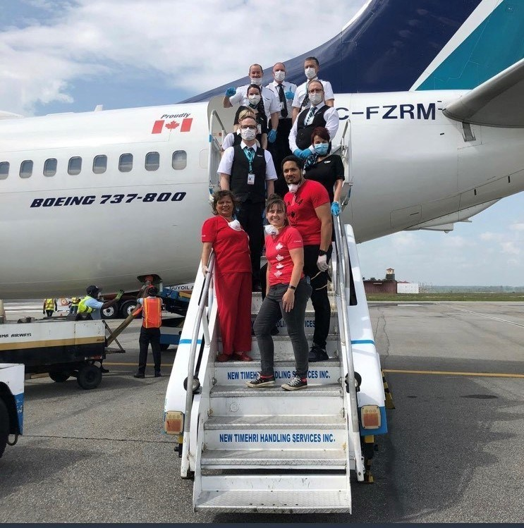 The 28 flights were a collaboration between WestJet and the Government of Canada and were part of WestJet's efforts to bring Canadian citizens home following the suspension of the airline's international service due to the COVID-19 pandemic. (CNW Group/WESTJET, an Alberta Partnership)