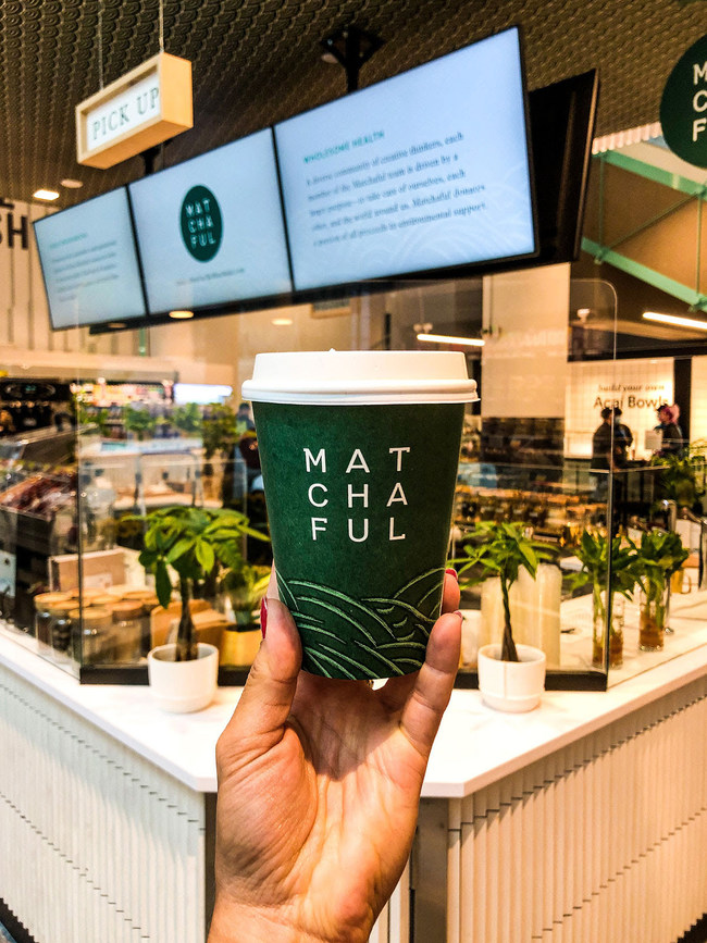 Matchaful latte to-go