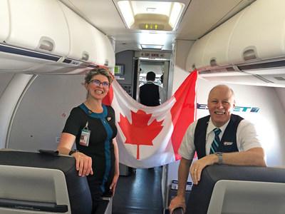 Sur une période de 104 jours, des centaines de WestJetters ont pris en charge l'organisation des vols et des équipes opérationnelles dont la plupart des membres s'étaient portés volontaires pour accomplir ces missions. (Groupe CNW/WESTJET, an Alberta Partnership)