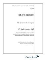 J.F. Lehman & Company Raises $1.35 Billion for Fifth Fund