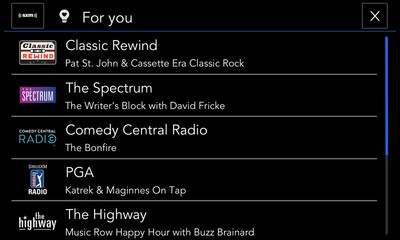 """SiriusXM with 360L delivers intuitive """"For You"""" content recommendations that enable listeners to discover more of what they love, based on listening habits, served on screen for easy, one-touch access."""