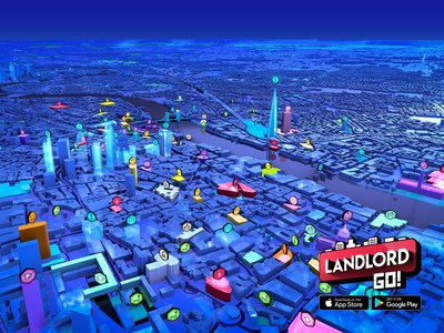 London 3D map view from game