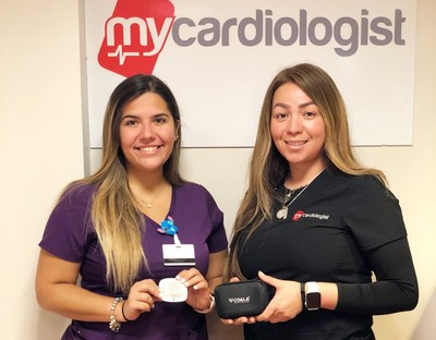My Cardiology device nurses Jimena Justino and Kaitley Perez