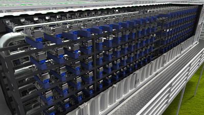 Rendu de l'unité de conversion du carbone par plasma ReCarbon. (PRNewsfoto/ReCarbon, Inc.)