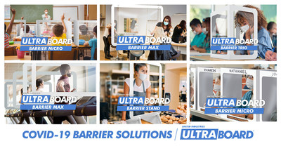 COVID-19 Protective Barrier Solutions Manufactured in the USA by UltraBoard. Learn more at UltraBoard.com