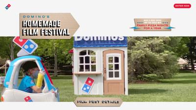 Ahora, los clientes pueden participar en el Concurso de Festival de Cine Casero (Homemade Film Festival Contest) de Domino's enviando una película realizada en casa que muestre su amor por Domino's, para tener la oportunidad de ganar pizza gratis durante un año.