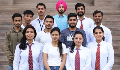 Engineering students of Batch 2020 of Chandigarh University who have been selected by IT Company Biralsoft during campus placements.