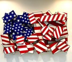 A 3-D Fragmented Flag By Artist Todd Gray Represents Our Country In Missouri Capital Governor Office Building