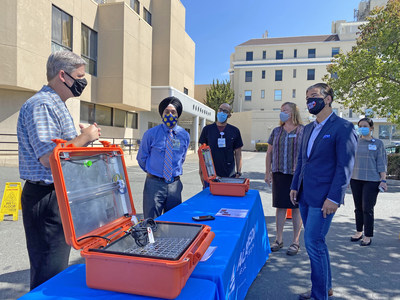 AB&I Foundry, California Metals Coalition (CMC), Assemblyman Rob Bonta (Alameda County), and MiraCosta College Technology Career Institute (TCI) discuss their efforts to provide new equipment supporting local first responders during the COVID‐19 health crisis.