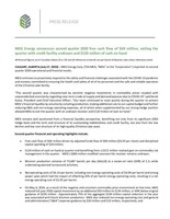 MEG Energy announces second quarter 2020 free cash flow of $69 million, exiting the quarter with credit facility undrawn and $120 million of cash on hand (CNW Group/MEG Energy Corp.)