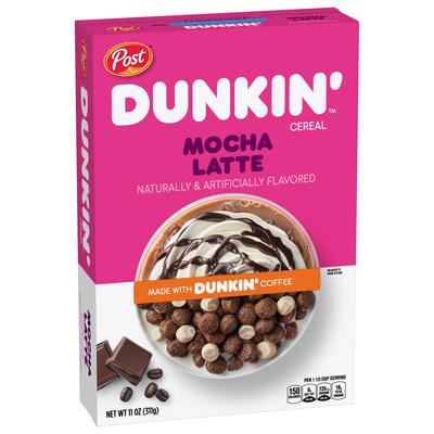 Post Dunkin' Mocha Latte cereal