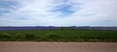 Rendu de la centrale solaire de Yellow Lake, l'une des deux centrales dont la construction est prévue d'ici avril 2021 (Groupe CNW/RBC Groupe Financier)