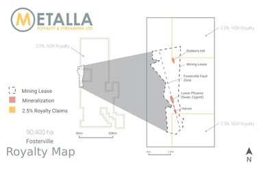 Metalla Fosterville Royalty Map (CNW Group/Metalla Royalty and Streaming Ltd.)