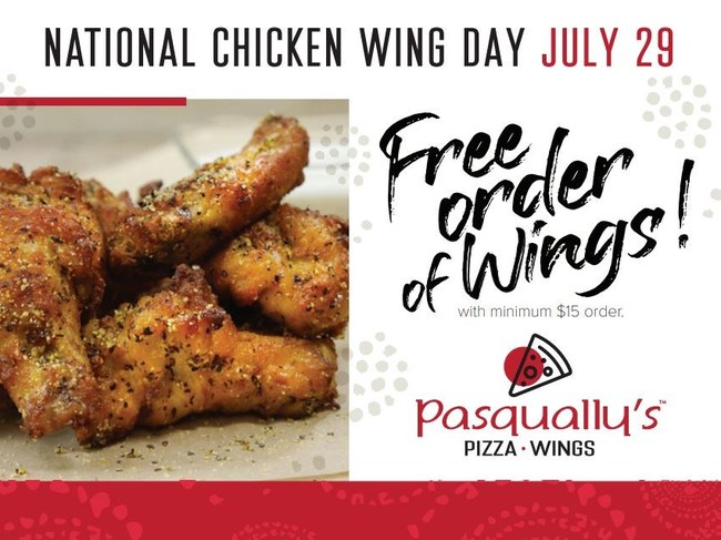 Pasqually's Pizza & Wings Celebrates National Chicken Wing Day with Free Wings