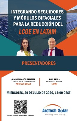 Arctech Solar hace un significativo avance en Latinoamérica como uno de los 4 principales proveedores de seguidores solares (PRNewsfoto/Arctech Solar)