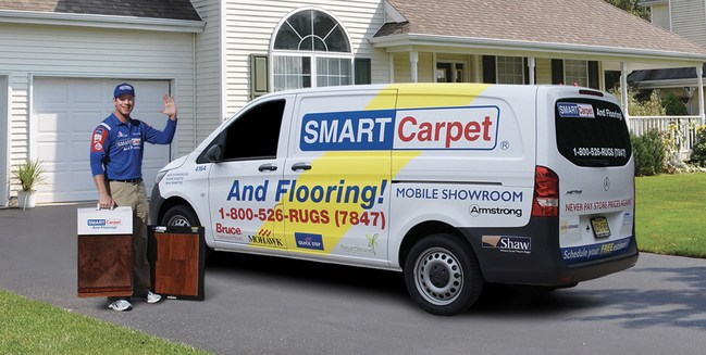 SMART Carpet and Flooring offers at-home shopping options with mobile showroom
