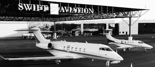 The Swift Aviation fleet and facility at Phoenix Sky Harbor.