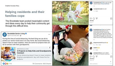 Facebook Recognizes Brookdale's Social Media Best Practices for COVID-19 Content