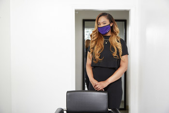 With help from Mayvenn's Save the Salon Campaign, stylist Alyson McKnight has tentatively reopened her services, taking all proper precautions to ensure her safety and the safety of her clientele.