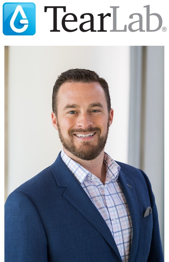 Adam Szaronos, newly appointed Chief Commercial Officer of TearLab