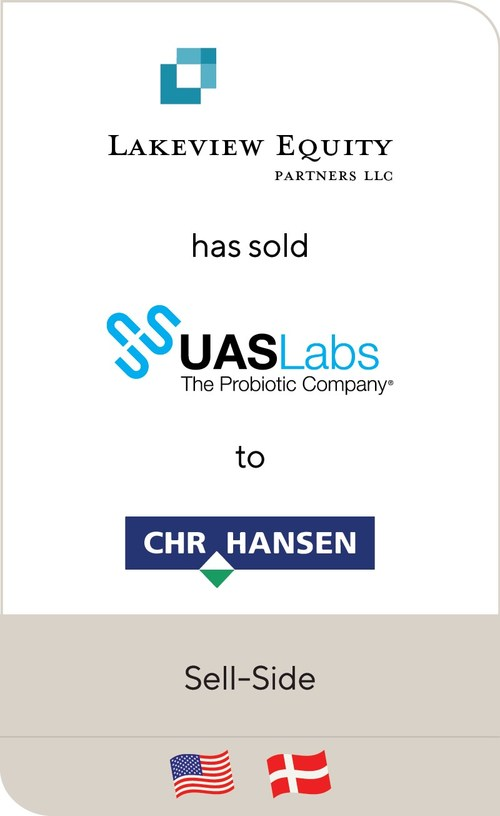 Lincoln International is pleased to announce that UAS Laboratories LLC, a portfolio company of Lakeview Equity Partners, LLC, has been sold to Chr. Hansen Holding A/S (CPSE:CHR), a leading, global bioscience company that develops natural ingredient solutions for the food, nutritional, pharmaceutical and agricultural industries.