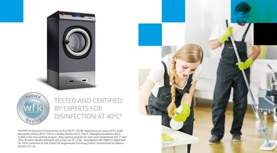 Primus, a laundry equipment brand known throughout Europe for its wash quality and technology innovations, recently received certification for disinfection processes for mop washing for the FX line of washer-extractors.